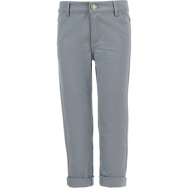 Брюки Button Blue для мальчикаБрюки<br>Характеристики товара:<br><br>• цвет: серый<br>• состав ткани: 98% хлопок, 2% эластан<br>• сезон: демисезон<br>• застежка: пуговица<br>• шлевки<br>• страна бренда: Россия<br><br>Универсальные брюки для ребенка от популярного бренда Button Blue хорошо сочетаются с одеждой различных оттенков благодаря базовому цвету. Эти брюки для детей дополнены шлевками для ремня. Однотонные брюки сделаны из эластичной мягкой ткани, которая позволяет коже дышать. <br><br>Брюки Button Blue (Баттон Блю) для мальчика можно купить в нашем интернет-магазине.<br>Ширина мм: 215; Глубина мм: 88; Высота мм: 191; Вес г: 336; Цвет: серый; Возраст от месяцев: 144; Возраст до месяцев: 156; Пол: Мужской; Возраст: Детский; Размер: 158,98,152,146,140,134,128,122,116,110,104; SKU: 7746576;