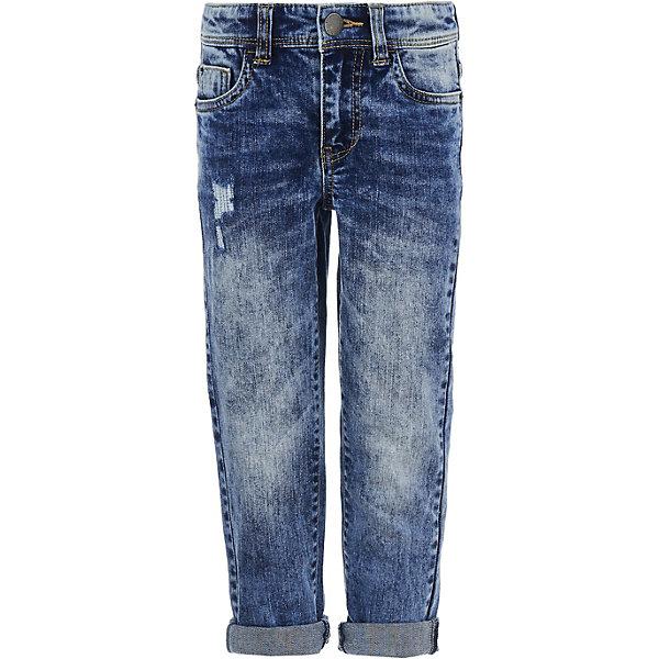 Джинсы Button Blue для мальчикаДжинсы<br>Джинсы Button Blue для мальчика<br>Мода меняется, но классические джинсы всегда в тренде. Купить недорого детские джинсы прямого кроя для мальчика - идеальный вариант для того, кто хочет получить максимально практичную вещь. Модель сочетается с самой разной одеждой, поэтому поможет создать тысячи образов. Легкие джинсы сезона Весна-Лето 2018 отражают все модные тенденции: имеют свободный и демократичный фасон, удобный и лаконичный дизайн.<br>Состав:<br>98% хлопок 2% эластан<br>Ширина мм: 215; Глубина мм: 88; Высота мм: 191; Вес г: 336; Цвет: синий; Возраст от месяцев: 24; Возраст до месяцев: 36; Пол: Мужской; Возраст: Детский; Размер: 98,158,152,146,140,134,128,122,116,110,104; SKU: 7746624;