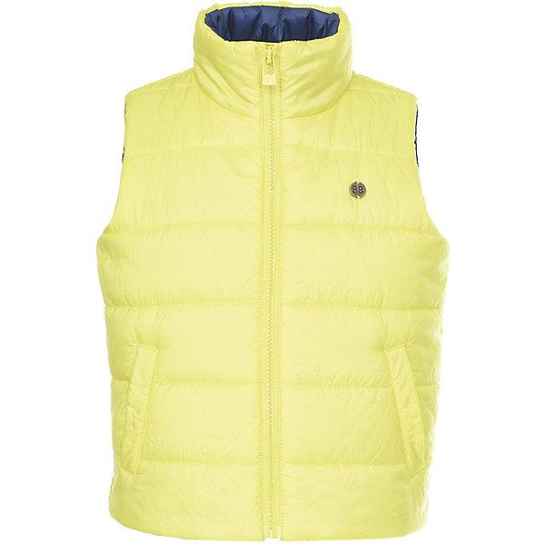 Жилет Button Blue для мальчикаВерхняя одежда<br>Характеристики товара:<br><br>• цвет: зеленый<br>• состав ткани: 100% полиэстер<br>• подкладка: 100% полиэстер<br>• утеплитель: 100% полиэстер<br>• сезон: демисезон<br>• особенности модели: стеганая<br>• застежка: молния<br>• страна бренда: Россия<br><br>Яркий жилет для ребенка от известного бренда Button Blue отличается высоким воротом. Этот жилет для детей дополнен удобными карманами. Стеганый детский жилет, как и другие модели одежды для ребенка от Button Blue - качественная стильная вещь по доступной цене. <br><br>Жилет Button Blue (Баттон Блю) для мальчика можно купить в нашем интернет-магазине.<br>Ширина мм: 356; Глубина мм: 10; Высота мм: 245; Вес г: 519; Цвет: зеленый; Возраст от месяцев: 144; Возраст до месяцев: 156; Пол: Мужской; Возраст: Детский; Размер: 158,98,152,146,140,134,128,122,116,110,104; SKU: 7746720;