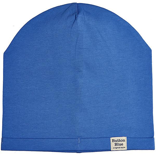 Шапка Button Blue для мальчикаГоловные уборы<br>Характеристики товара:<br><br>• цвет: голубой<br>• состав ткани: 95% хлопок, 5% эластан<br>• сезон: демисезон<br>• страна бренда: Россия<br><br>Стильная шапка для детей выполнена из мягкой эластичной ткани. Хлопковая шапка для ребенка от известного бренда Button Blue поможет защитить голову от прохладного воздуха. Эта детская шапка, как и другие модели одежды для ребенка от Button Blue - качественная стильная вещь по доступной цене. <br><br>Шапку Button Blue (Баттон Блю) для мальчика можно купить в нашем интернет-магазине.<br>Ширина мм: 89; Глубина мм: 117; Высота мм: 44; Вес г: 155; Цвет: синий; Возраст от месяцев: 24; Возраст до месяцев: 36; Пол: Мужской; Возраст: Детский; Размер: 50,56,54,52; SKU: 7746773;