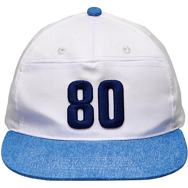 Кепка Button Blue для мальчикаГоловные уборы<br>Характеристики товара:<br><br>• цвет: белый<br>• состав ткани: 100% хлопок<br>• сезон: лето<br>• застежка: пластик<br>• страна бренда: Россия<br><br>Хлопковая кепка для детей благодаря удобному регулятору позволяет подогнать размер под обхват головы. Эта детская кепка сделана из легкого натурального хлопка, который отлично подходит для летних головных уборов. Модная бейсболка для ребенка от популярного бренда Button Blue декорирована вышивкой. <br><br>Кепку Button Blue (Баттон Блю) для мальчика можно купить в нашем интернет-магазине.<br>Ширина мм: 89; Глубина мм: 117; Высота мм: 44; Вес г: 155; Цвет: белый; Возраст от месяцев: 84; Возраст до месяцев: 120; Пол: Мужской; Возраст: Детский; Размер: 54,50; SKU: 7746786;