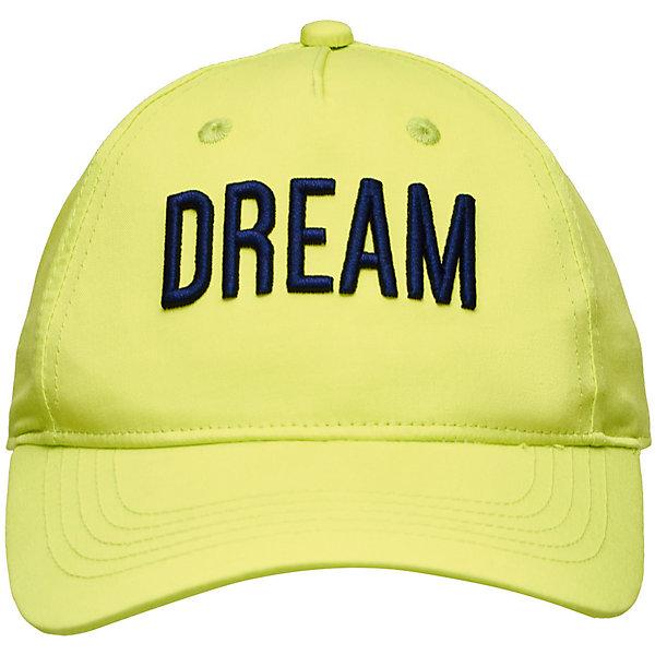 Кепка Button Blue для мальчикаГоловные уборы<br>Характеристики товара:<br><br>• цвет: зеленый<br>• состав ткани: 100% хлопок<br>• сезон: лето<br>• застежка: липучка<br>• страна бренда: Россия<br><br>Яркая кепка для детей благодаря наличию липучки сзади позволяет отрегулировать размер под ребенка. Эта детская кепка имеет козырек, который обеспечивает дополнительную защиту от солнца. Модная бейсболка для ребенка дополнена отверстиями для циркуляции воздуха.<br><br>Кепку Button Blue (Баттон Блю) для мальчика можно купить в нашем интернет-магазине.<br>Ширина мм: 89; Глубина мм: 117; Высота мм: 44; Вес г: 155; Цвет: зеленый; Возраст от месяцев: 24; Возраст до месяцев: 36; Пол: Мужской; Возраст: Детский; Размер: 50,54; SKU: 7746789;