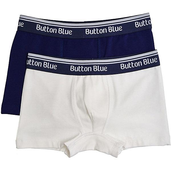 Купить Трусы, 2шт. Button Blue для мальчика, Китай, белый, 152, 128, 140, 116, 104, 98, Мужской