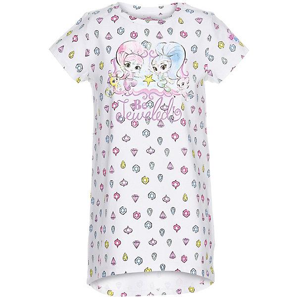 Ночная сорочка Button Blue для девочкиПижамы и сорочки<br>Характеристики товара:<br><br>• цвет: белый<br>• состав ткани: 95% хлопок, 5%эластан<br>• сезон: круглый год<br>• короткие рукава<br>• страна бренда: Россия<br><br>Оригинальная ночная сорочка для детей выполнена из легкой хлопковой ткани и декорирована принтом на тему мультфильма «Шиммер и Шайн». Хлопковая ночная сорочка для ребенка от известного бренда Button Blue отличается свободным силуэтом. Эта детская ночная сорочка, как и другие модели одежды для ребенка от Button Blue - качественная стильная вещь по доступной цене. <br><br>Ночную сорочку Button Blue (Баттон Блю) для девочки можно купить в нашем интернет-магазине.<br>Ширина мм: 281; Глубина мм: 70; Высота мм: 188; Вес г: 295; Цвет: белый; Возраст от месяцев: 24; Возраст до месяцев: 36; Пол: Женский; Возраст: Детский; Размер: 98,152,140,128,116,104; SKU: 7746907;