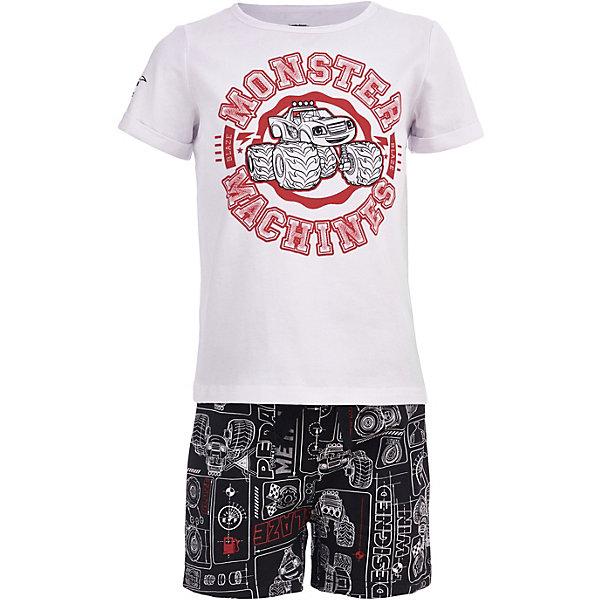 Пижама Button Blue для мальчикаПижамы и сорочки<br>Пижама Button Blue для мальчика<br>Одежда для сна должна быть максимально комфортной и удобной, но и значение дизайна нельзя недооценивать! Чтобы мальчику было не только уютно, но и приятно ложиться спать, ему можно купить детскую пижаму с изображениями популярных героев. Модель оформлена в стиле мультсериала Вспыш и чудо-машинки и украшена изображением его персонажа. Пижама отличается высоким качеством, дешевой ценой, изготовлена из хлопка с эластаном. Комплект состоит из шортиков и футболки с коротким рукавом.<br>Состав:<br>95%хлопок 5%эластан<br>Ширина мм: 281; Глубина мм: 70; Высота мм: 188; Вес г: 295; Цвет: белый; Возраст от месяцев: 24; Возраст до месяцев: 36; Пол: Мужской; Возраст: Детский; Размер: 98,152,140,128,116,104; SKU: 7746935;