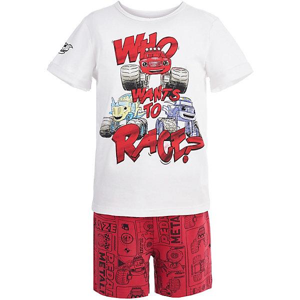 Пижама Button Blue для мальчикаПижамы и сорочки<br>Характеристики товара:<br><br>• цвет: красный<br>• комплектация: футболка, шорты<br>• состав ткани: 95% хлопок, 5%эластан<br>• сезон: круглый год<br>• талия: резинка<br>• короткие рукава<br>• страна бренда: Россия<br><br> Материал этой детской пижамы - преимущественно легкий натуральный хлопок, который создает комфортные условия для тела. Эта пижама для ребенка от популярного бренда Button Blue выполнена в приятной расцветке. Такая пижама для детей украшена принтом на тему любимого детьми мультфильма «Вспыш и чудо-машинки». <br><br>Пижаму Button Blue (Баттон Блю) для мальчика можно купить в нашем интернет-магазине.<br>Ширина мм: 281; Глубина мм: 70; Высота мм: 188; Вес г: 295; Цвет: белый; Возраст от месяцев: 24; Возраст до месяцев: 36; Пол: Мужской; Возраст: Детский; Размер: 98,152,140,128,116,104; SKU: 7746942;