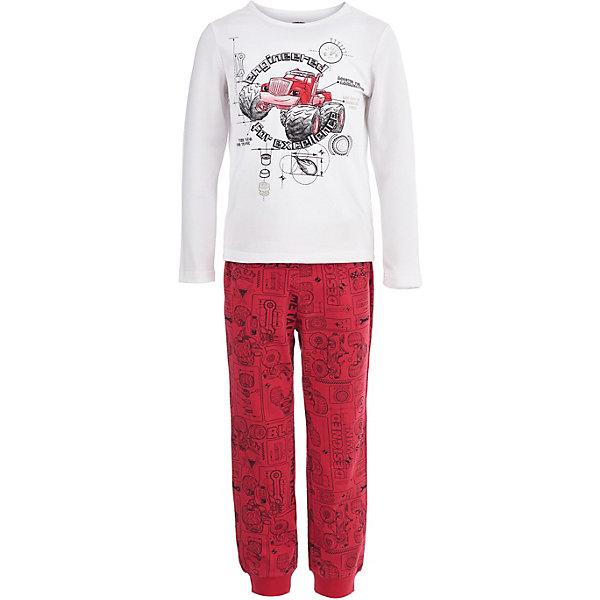 Пижама Button Blue для мальчикаПижамы и сорочки<br>Характеристики товара:<br><br>• цвет: красный<br>• комплектация: лонгслив, брюки<br>• состав ткани: 95% хлопок, 5%эластан<br>• сезон: круглый год<br>• талия: резинка<br>• короткие рукава<br>• страна бренда: Россия<br><br>Дышащий материал этой детской пижамы - преимущественно легкий натуральный хлопок, который создает комфортные условия для тела. Эта пижама для ребенка от популярного бренда Button Blue выполнена в приятной расцветке. Такая пижама для детей украшена принтом на тему любимого детьми мультфильма «Вспыш и чудо-машинки». <br><br>Пижаму Button Blue (Баттон Блю) для мальчика можно купить в нашем интернет-магазине.<br>Ширина мм: 281; Глубина мм: 70; Высота мм: 188; Вес г: 295; Цвет: белый; Возраст от месяцев: 24; Возраст до месяцев: 36; Пол: Мужской; Возраст: Детский; Размер: 98,152,140,128,116,104; SKU: 7746963;