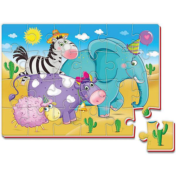 Мягкие пазлы А4 24 элемента ЗоопаркПазлы для малышей<br>Характеристики:<br><br>• возраст: от 3 лет;<br>• материал: вспененный полимер;<br>• количество деталей: 24;<br>• формат собранного пазла: А4;<br>• размер упаковки: 34,5х30,5х0,4 см;<br>• вес упаковки: 55 гр.;<br>• страна бренда: Украина.<br><br>Мягкий пазл Roter Kafer «Зоопарк» собирается в красочную картинку, с которой интересно изучать цвета. Объемный пазл из вспененного полимера отлично переносит механическое воздействие. Материал безопасен для ребенка, его текстура приятна на ощупь.<br><br>Детали пазла легко соединяются между собой. Сборка изображения развивает внимательность и логическое мышление.<br><br>Мягкие пазлы А4 24 элемента «Зоопарк» можно купить в нашем интернет-магазине.<br>Ширина мм: 4; Глубина мм: 345; Высота мм: 305; Вес г: 55; Возраст от месяцев: 36; Возраст до месяцев: 2147483647; Пол: Унисекс; Возраст: Детский; SKU: 7748204;