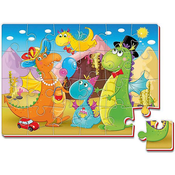 Мягкие пазлы А4 24 элемента ДинозаврыПазлы для малышей<br>Характеристики:<br><br>• возраст: от 3 лет;<br>• материал: вспененный полимер;<br>• количество деталей: 24;<br>• формат собранного пазла: А4;<br>• размер упаковки: 34,5х30,5х0,4 см;<br>• вес упаковки: 55 гр.;<br>• страна бренда: Украина.<br><br>Мягкий пазл Roter Kafer «Динозавры» собирается в красочную картинку, с которой интересно изучать цвета. Объемный пазл из вспененного полимера отлично переносит механическое воздействие. Материал безопасен для ребенка, его текстура приятна на ощупь.<br><br>Детали пазла легко соединяются между собой. Сборка изображения развивает внимательность и логическое мышление.<br><br>Мягкие пазлы А4 24 элемента «Динозавры» можно купить в нашем интернет-магазине.<br>Ширина мм: 4; Глубина мм: 345; Высота мм: 305; Вес г: 55; Возраст от месяцев: 36; Возраст до месяцев: 2147483647; Пол: Унисекс; Возраст: Детский; SKU: 7748242;