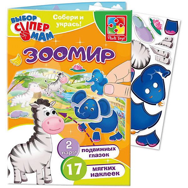 Игры с наклейками и глазками ЗоопаркОбучающие игры для дошкольников<br>Характеристики:<br><br>• возраст: от 3 лет;<br>• в наборе: 17 мягких наклеек, 2 пары подвижных глазок;<br>• материал: картон, пластик;<br>• размер упаковки: 0,4х17х27,5 см;<br>• вес упаковки: 40 гр.;<br>• страна бренда: Украина.<br><br>Игра с наклейками и глазками Vladi Toys «Зоопарк» предлагает ребенку собрать из деталей разных животных. Когда малыш справится с этой задачей, останется только «оживить» персонажа с помощью подвижных глазок.<br><br>Игра помогает закрепить знания о цветах, формах и животных. Мягкие наклейки приятны на ощупь. Сделано из безопасных материалов.<br><br>Игру с наклейками и глазками «Зоопарк» можно купить в нашем интернет-магазине.<br>Ширина мм: 40; Глубина мм: 170; Высота мм: 275; Вес г: 40; Возраст от месяцев: 36; Возраст до месяцев: 2147483647; Пол: Унисекс; Возраст: Детский; SKU: 7748258;