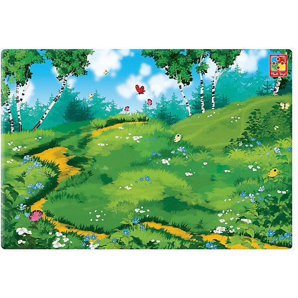 Магнитная доска в рулоне ДекорацияОбучающие игры для дошкольников<br>Характеристики:<br><br>• возраст: от 2 лет;<br>• в наборе: рулон магнитной доски;<br>• размер доски: 48х32 см;<br>• размер упаковки: 10х33х10 см;<br>• вес упаковки: 395 гр.;<br>• страна бренда: Украина.<br><br>Магнитная доска в рулоне Vladi Toys «Декорация» отличается гибкостью и легкостью установки. Изделие имеет самоклеющуюся основу, которая подходит для крепления практически на любой поверхности.<br><br>Доска с ярким красочным рисунком станет отличной сценой для игр с магнитными пазлами и фигурками. С ее помошью легко придумывать новые сюжеты, в которых главным сценаристом окажется ребенок.<br><br>Магнитную доску в рулоне «Декорация» можно купить в нашем интернет-магазине.<br>Ширина мм: 100; Глубина мм: 330; Высота мм: 100; Вес г: 395; Возраст от месяцев: 24; Возраст до месяцев: 60; Пол: Унисекс; Возраст: Детский; SKU: 7748270;