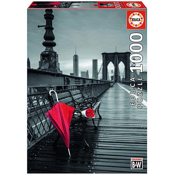 Пазл Educa 1000 деталей Красный зонт. Бруклинский мостПазлы классические<br>Характеристики товара:<br><br>• возраст: от 9 лет;<br>• количество деталей: 1000 шт;<br>• материал: картон;<br>• в комплекте: сухой клей;<br>• размер упаковки: 37х27х6 см;<br>• размер картины: 68х48 см;<br>• вес упаковки: 700 гр.;<br>• страна бренда: Испания.<br><br>Пазл Educa Красный зонт. Бруклинский мост – это отличный способ увлекательно провести досуг, снять стресс и развить моторику.<br><br>Качество этих пазлов подтверждено миллионами любителей сборки пазлов. Каждая деталь имеет индивидуальную форму и легко соединяется с другой, поэтому у Вас обязательно получится ожидаемый результат.<br><br>Компания Educa предоставляет уникальный постпродажный сервис - бесплатная доставка в любую точку мира потерянной детали.<br><br>Пазл Educa Красный зонт. Бруклинский мост можно купить в нашем интернет-магазине.<br>Ширина мм: 370; Глубина мм: 55; Высота мм: 270; Вес г: 750; Возраст от месяцев: 36; Возраст до месяцев: 1188; Пол: Унисекс; Возраст: Детский; SKU: 7753395;