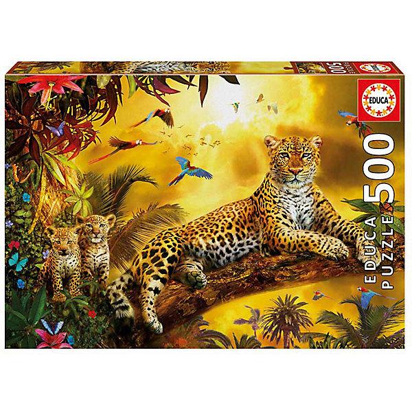 Пазл Educa 500 деталейЛеопард и его детенышиПазлы классические<br>Характеристики товара:<br><br>• возраст: от 9 лет;<br>• количество деталей: 500 шт;<br>• материал: картон;<br>• в комплекте: сухой клей;<br>• размер упаковки: 23х33х4 см;<br>• размер картины: 48х34 см;<br>• вес упаковки: 460 гр.;<br>• страна бренда: Испания.<br><br>Пазл Educa Леопард и его детеныши – это отличный способ увлекательно провести досуг, снять стресс и развить моторику.<br><br>Качество этих пазлов подтверждено миллионами любителей сборки пазлов. Каждая деталь имеет индивидуальную форму и легко соединяется с другой, поэтому у Вас обязательно получится ожидаемый результат.<br><br>Компания Educa предоставляет уникальный постпродажный сервис - бесплатная доставка в любую точку мира потерянной детали.<br><br>Пазл Educa Леопард и его детеныши можно купить в нашем интернет-магазине.<br>Ширина мм: 332; Глубина мм: 45; Высота мм: 227; Вес г: 450; Возраст от месяцев: 36; Возраст до месяцев: 1188; Пол: Унисекс; Возраст: Детский; SKU: 7753409;