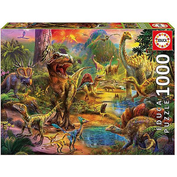Пазл Educa 1000 деталей  Земля динозавровПазлы классические<br>Характеристики товара:<br><br>• возраст: от 9 лет;<br>• количество деталей: 1000 шт;<br>• материал: картон;<br>• в комплекте: сухой клей;<br>• размер упаковки: 37х27х6 см;<br>• размер картины: 68х48 см;<br>• вес упаковки: 700 гр.;<br>• страна бренда: Испания.<br><br>Пазл Educa Земля динозавров – это отличный способ увлекательно провести досуг, снять стресс и развить моторику.<br><br>Качество этих пазлов подтверждено миллионами любителей сборки пазлов. Каждая деталь имеет индивидуальную форму и легко соединяется с другой, поэтому у Вас обязательно получится ожидаемый результат.<br><br>Компания Educa предоставляет уникальный постпродажный сервис - бесплатная доставка в любую точку мира потерянной детали.<br><br>Пазл Educa Земля динозавров можно купить в нашем интернет-магазине.<br>Ширина мм: 370; Глубина мм: 55; Высота мм: 270; Вес г: 750; Возраст от месяцев: 36; Возраст до месяцев: 1188; Пол: Унисекс; Возраст: Детский; SKU: 7753417;
