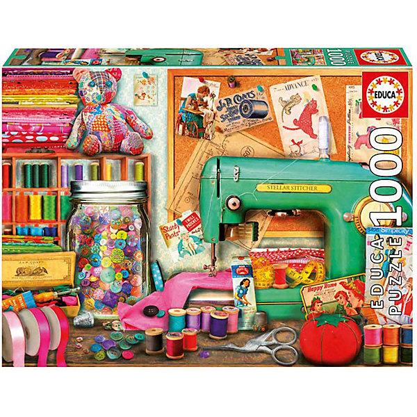Купить Пазл Educa 1000 деталей Швейный уголок , Испания, Унисекс