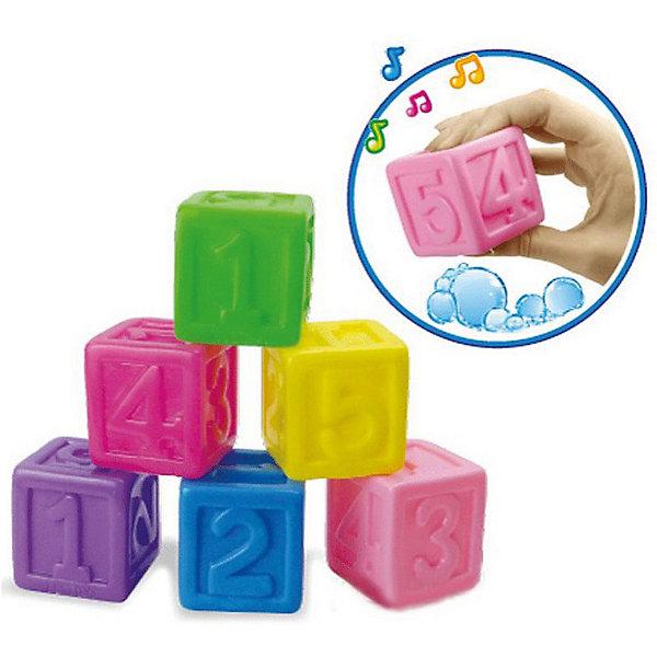 Игрушка Bebelino Кубики с цифрамиИгрушки для ванной<br>Характеристики товара:<br><br>• возраст: от 9 месяцев;<br>• пол: для мальчиков и девочек;<br>• комплект: 6 кубиков-пищалок;<br>• из чего сделана игрушка (состав): резина;<br>• размер упаковки: 20,5х17,5х5 см.;<br>• вес: 181 гр.;<br>• упаковка: сетка с хедером;<br>• страна обладатель бренда: Великобритания.<br><br>Набор игрушек для ванны «Кубики с цифрами» от бренда Bebelino превратит купание в невероятно веселый и при это полезный процесс. <br><br>Ребенок с удовольствием будет изучать кубики, знакомиться с их формой, цветами, а также цифрами, расположенными на каждой из сторон фигуры. <br><br>Кроме того, каждый раз, когда малыш будет сдавливать ручками эти резиновые игрушки, они будут громко и забавно пищать, что несомненно приведет его в восторг.<br><br>Набор игрушек «Кубики с цифрами» можно купить в нашем интернет-магазине.<br>Ширина мм: 205; Глубина мм: 50; Высота мм: 175; Вес г: 181; Цвет: разноцветный; Возраст от месяцев: 9; Возраст до месяцев: 2147483647; Пол: Унисекс; Возраст: Детский; SKU: 7753472;