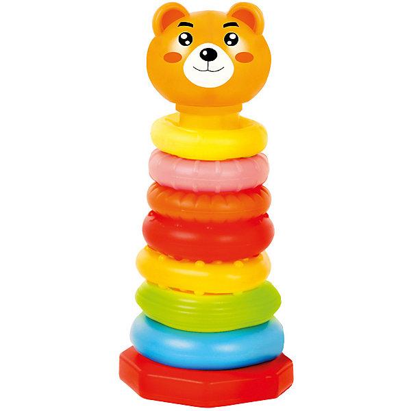 Пирамидка BebelinoОригинальные кольцаРазвивающие игрушки<br>Характеристики товара:<br><br>• возраст: от 12 месяцев;<br>• пол: для мальчиков и девочек;<br>• комплект: основа, 8 колец, вершина;<br>• из чего сделана игрушка (состав): пластик;<br>• размер упаковки: 19x9x37 см.;<br>• вес: 369 гр.;<br>• упаковка: картонная коробка;<br>• страна обладатель бренда: Великобритания.<br><br>Пирамидка «Оригинальные кольца» понравится многим деткам своим красочным исполнением и оригинальностью. <br><br>Детали пирамидки можно сцепить между собой по принципу звеньев.<br><br>Некоторые детали имеют пупырчатую поверхность, при игре такие элементы массажируют ладошки ребенка. <br><br>Вершина игрушки выполнена в виде головы мишки, которая легко присоединяется к основе пирамидки.<br><br>Пирамидку «Оригинальные кольца» можно купить в нашем интернет-магазине.<br>Ширина мм: 190; Глубина мм: 90; Высота мм: 370; Вес г: 369; Цвет: разноцветный; Возраст от месяцев: 12; Возраст до месяцев: 2147483647; Пол: Унисекс; Возраст: Детский; SKU: 7753484;