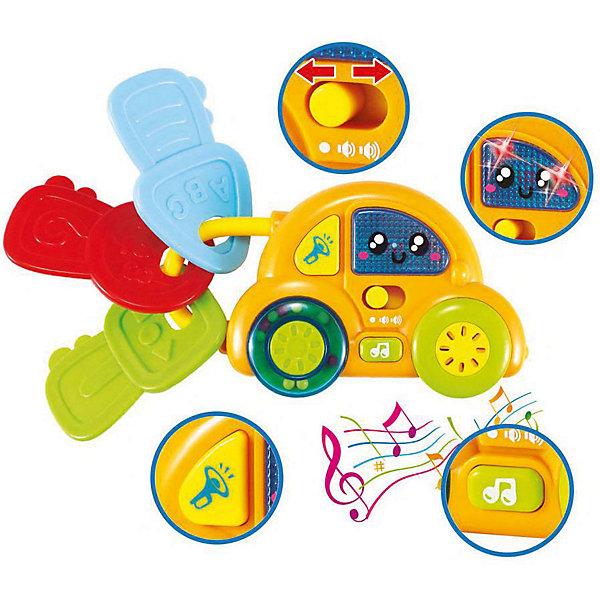 Игрушка Bebelino Мои первые музыкальные ключи-машинаИнтерактивные игрушки для малышей<br>Характеристики товара:<br><br>• возраст: от 6 месяцев;<br>• пол: для мальчиков и девочек;<br>• наличие батареек: входят в комплект;<br>• тип батареек: 2xAA/LR6 1,5V (пальчиковые);<br>• из чего сделана игрушка (состав): пластик, металл;<br>• размер упаковки: 15х5х22,5 см.;<br>• вес: 211 гр.;<br>• упаковка: картонная коробка блистерного типа;<br>• страна обладатель бренда: Великобритания.<br><br>Оригинальная интерактивная игрушка «Мои первые музыкальные ключи: Машинка»  сможет порадовать всех ребятишек, ведь с ее помощью детки будут проводить время не только весело, но и с пользой, тренируя различные полезные навыки. <br><br>Яркий дизайн и забавная мелодия, которая будет воспроизводиться при нажатии на кнопочку, находящуюся на машинке, понравятся любому мальчишке.<br><br>Интерактивную игрушку «Мои первые музыкальные ключи: Машинка» можно купить в нашем интернет-магазине.<br>Ширина мм: 150; Глубина мм: 50; Высота мм: 225; Вес г: 211; Цвет: разноцветный; Возраст от месяцев: 6; Возраст до месяцев: 2147483647; Пол: Унисекс; Возраст: Детский; SKU: 7753492;