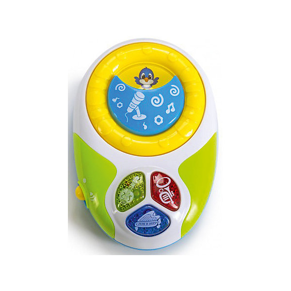 Музыкальный плеер Bebelino с голосами животныхДетские гаджеты<br>Характеристики товара:<br><br>• возраст: от 6 месяцев;<br>• пол: для мальчиков и девочек;<br>• наличие батареек: входят в комплект;<br>• тип батареек: 2xAA/LR6 1,5V (пальчиковые);<br>• из чего сделана игрушка (состав): пластик, металл;<br>• размер упаковки: 15х4х17,5 см.;<br>• вес: 190 гр.;<br>• упаковка: картонная коробка блистерного типа;<br>• страна обладатель бренда: Великобритания.<br><br>Интерактивная игрушка «Музыкальный плеер» от бренда Bebelino при помощи удобных кнопочек может воспроизводить звучание музыкальных инструментов, таких как пианино, труба и банджо, а также проигрывать для ребенка мелодии. <br><br>Игрушка оснащен диском, при прокручивании которого малыш услышит мычание коровы, лай собачки, чириканье воробушка, а также узнает, как «говорит» обезьянка. <br><br>Разноцветная игрушка сделана из прочного нетоксичного пластика. <br><br>«Музыкальный плеер» с голосами животных можно купить в нашем интернет-магазине.<br>Ширина мм: 150; Глубина мм: 40; Высота мм: 175; Вес г: 190; Цвет: разноцветный; Возраст от месяцев: 9; Возраст до месяцев: 2147483647; Пол: Унисекс; Возраст: Детский; SKU: 7753494;
