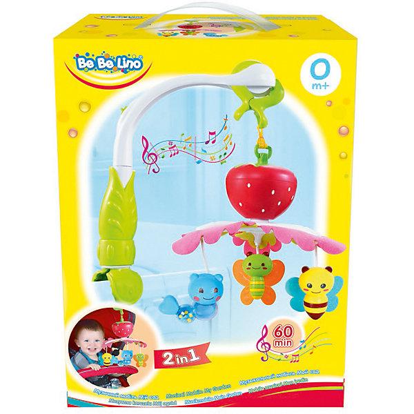 Музыкальный мобиль Bebelino Мой садИгрушки для новорожденных<br>Характеристики товара:<br><br>• возраст: от 0 лет;<br>• пол: для мальчиков и девочек;<br>• наличие батареек: не входят в комплект;<br>• тип батареек: 3хАА/LR6 1,5 (пальчиковые);<br>• из чего сделана игрушка (состав): пластик;<br>• размер упаковки: 22x11,5x30 см.;<br>• вес: 934 гр.;<br>• упаковка: картонная коробка;<br>• страна обладатель бренда: Великобритания.<br><br>Развивающий мобиль «Мой сад» станет чудесной игрушкой, которая сможет отвлечь малыша от капризов и развлечь его.<br><br>Комплект представляет собой удобную музыкальную подвеску-карусель, которую можно прикреплять к козырьку коляски или специальной ножке, устанавливающейся на бортик кроватки. На яркое красочное изделие подвешены веселые игрушки.<br><br>Также в мобиле имеется встроенный звуковой модуль, который позволит воспроизводить приятную мелодию длительностью до шестидесяти минут.<br><br>Развивающий мобиль «Мой сад» можно купить в нашем интернет-магазине.<br>Ширина мм: 220; Глубина мм: 115; Высота мм: 300; Вес г: 934; Цвет: разноцветный; Возраст от месяцев: -2147483648; Возраст до месяцев: 2147483647; Пол: Унисекс; Возраст: Детский; SKU: 7753498;