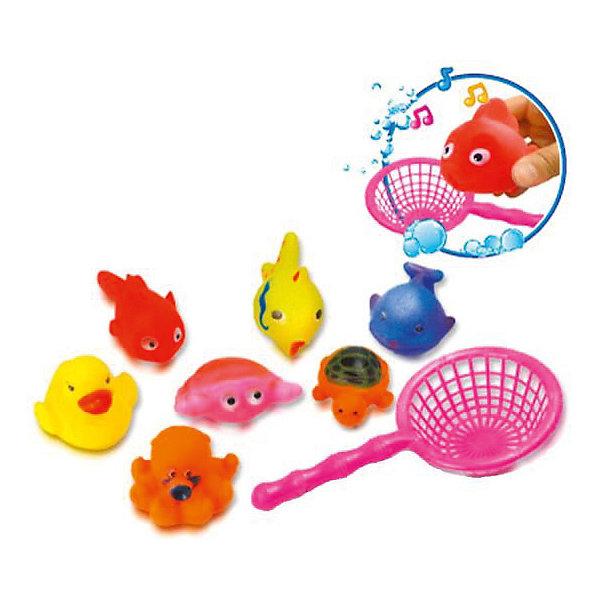 Набор с сачком  Bebelino Морские жителиИгрушки для ванной<br>Характеристики товара:<br><br>• возраст: от 12 месяцев;<br>• пол: для мальчиков и девочек;<br>• из чего сделана игрушка (состав): резина, пластик;<br>• размер упаковки: 19,5х5,5х22 см.;<br>• вес: 96 гр.;<br>• упаковка: блистер на картоне;<br>• страна обладатель бренда: Великобритания.<br><br>Набор с сачком от известного бренда Bebelino «Морские жители» собрал красочных и забавных водных обитателей.<br><br>Фигурки морских обитателей отлично держатся на воде и умеют забавно пищать.<br><br>Занимаясь с ними, кроха будет развивать координацию, мелкую моторику, концентрацию, внимательность и воображение.<br><br>Детки с интересом будут изучать милые игрушки и с радостью принимать ванну с ними.<br><br>Все детали набора выполнены из прочного и гипоаллергенного материала, поэтому они будут безопасны для малышей.<br><br>Набор с сачком «Морские жители» можно купить в нашем интернет-магазине.<br>Ширина мм: 195; Глубина мм: 55; Высота мм: 220; Вес г: 96; Цвет: разноцветный; Возраст от месяцев: 9; Возраст до месяцев: 2147483647; Пол: Унисекс; Возраст: Детский; SKU: 7753500;