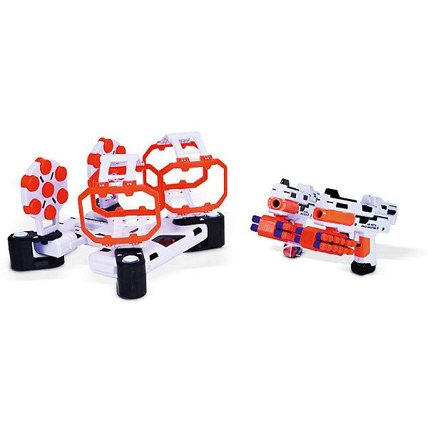 Игровой набор Mioshi  Космический тир: Двойная преградаНаборы оружия<br>Характеристики:<br><br>• возраст: от 4 лет;<br>• материал: пластмасса;<br>• в наборе: бластер 2 шт., 24 EVA патронов, мишень с подвижной установкой 2 шт., патронаш для пояса 2 шт.;<br>• тип батареек: АА 1,5 V;<br>• наличие батареек: в комплекте;<br>• вес: 1,5 кг.;<br>• размер упаковки: 58х44х8 см;<br>• страна бренда: Китай.<br><br>Игровой набор Mioshi «Космический тир: Двойная преграда» представляет игру, в которой ребенку предстоит попасть зарядами из бластера по движущимся мишеням. Для реалистичности игры предусмотрены звуковые эффекты.<br><br>Набор рассчитан на двух игроков и выполнен в космическом стиле. Все элементы сделаны из безопасного пластика. В комплекте демонстрационные батарейки.<br><br>Игровой набор Mioshi «Космический тир: Двойная преграда» можно купить в нашем интернет-магазине.<br>Ширина мм: 58; Глубина мм: 44; Высота мм: 8; Вес г: 1500; Цвет: разноцветный; Возраст от месяцев: 36; Возраст до месяцев: 72; Пол: Мужской; Возраст: Детский; SKU: 7753511;