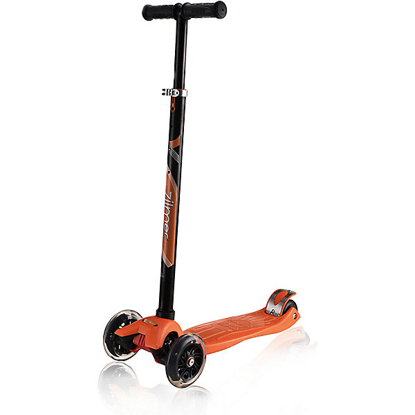 Самокат Zilmer Z-90 макси, 4 колеса, 46х24х67-90 смСамокаты<br>Характеристики:<br><br>• возраст: от 6 лет;<br>• материал: пластик, металл;<br>• цвет: черно-оранжевый;<br>• колеса с подсветкой;<br>• максимальная нагрузка: 40 кг.;<br>• вес: 2,85 кг.;<br>• размер упаковки: 60х15х28 см;<br>• страна бренда: Китай.<br><br>Самокат Zilmer «Z-90 макси» подходит для новичков, так как имеет 4 колеса для лучшего балансирования. Передние колеса немного больше задних, чтобы преодолевать препятствия и лучше набирать скорость. Заднее колесо оснащено крылом против брызг в дождливую погоду. Во время движения колеса мигают.<br><br>Рельефные ручки самоката легко помещаются в руке, руки при этом не скользят. Имеются противоударные наконечники. Самокат можно быстро сложить для транспортировки. Изделие выполнено из прочных качественных материалов.<br><br>Самокат Zilmer «Z-90 макси», 4 колеса, 46х24,67х90 см можно купить в нашем интернет-магазине.<br>Ширина мм: 60; Глубина мм: 15; Высота мм: 28; Вес г: 2850; Цвет: оранжевый/черный; Возраст от месяцев: 72; Возраст до месяцев: 120; Пол: Унисекс; Возраст: Детский; SKU: 7753513;