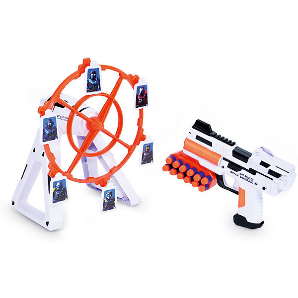 Игровой набор Mioshi Космический тир: ВращениеНаборы оружия<br>Характеристики:<br><br>• возраст: от 4 лет;<br>• материал: пластмасса;<br>• в наборе: бластер, 12 EVA патронов, мишень, патронаш для пояса;<br>• тип батареек: 4хАА 1,5 V;<br>• наличие батареек: в комплекте;<br>• вес: 730 гр.;<br>• размер упаковки: 42х26х9 см;<br>• страна бренда: Китай.<br><br>Игровой набор Mioshi «Космический тир: Вращение» представляет игру, в которой ребенку предстоит попасть зарядами из бластера по движущимся мишеням. Для реалистичности игры предусмотрены звуковые эффекты.<br><br>Набор выполнен в космическом стиле. Все элементы сделаны из безопасного пластика. В комплекте демонстрационные батарейки.<br><br>Игровой набор Mioshi «Космический тир: Вращение» можно купить в нашем интернет-магазине.<br>Ширина мм: 42; Глубина мм: 26; Высота мм: 9; Вес г: 730; Цвет: разноцветный; Возраст от месяцев: 36; Возраст до месяцев: 72; Пол: Мужской; Возраст: Детский; SKU: 7753523;