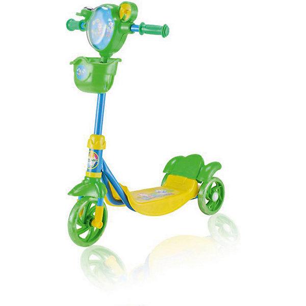 Самокат Zilmer  ZC-77,3 колеса, 58х16х77 смСамокаты<br>Характеристики:<br><br>• возраст: от 6 лет;<br>• материал: пластик, металл;<br>• цвет: желто-зеленый;<br>• тормоз: да;<br>• максимальная нагрузка: 30 кг.;<br>• вес: 2,4 кг.;<br>• размер упаковки: 58х20х20 см;<br>• страна бренда: Китай.<br><br>Самокат Zilmer «ZC-77» имеет три колеса, хорошо развивает скорость, подходит для новичков. Задние колеса оснащены крылом против брызг в дождливую погоду. Руль регулируется по высоте, на нем расположены звонок, корзинка и вентилятор.<br><br>Удобные ручки самоката легко помещаются в руке, руки при этом не скользят. Имеются противоударные ограничители. Езда на самокате развивает физические способности, координацию движений и выносливость. Изделие выполнено из прочных качественных материалов.<br><br>Самокат Zilmer «ZC-77», 3 колеса, 58х16х77 см можно купить в нашем интернет-магазине.<br>Ширина мм: 20; Глубина мм: 20; Высота мм: 58; Вес г: 2400; Цвет: gelb/gr?n; Возраст от месяцев: 72; Возраст до месяцев: 120; Пол: Унисекс; Возраст: Детский; SKU: 7753531;