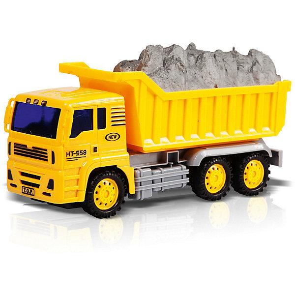 Фрикционная игрушка Handers Самосвал, 24 смМашинки<br>Характеристики:<br><br>• возраст: от 3 лет;<br>• материал: пластмасса;<br>• цвет: желтый;<br>• в наборе: самосвал, груз;<br>• вес: 410 гр.;<br>• размер упаковки: 9х16х31 см;<br>• страна бренда: Китай.<br><br>Handers «Самосвал» – игрушка с фрикционным механизмом. Машина приходит в ускоренное движение, если надавить на нее и разогнать по ровной поверхности. Во время езды издаются характерные звуки.<br><br>Самосвал имеет функциональный кузов, который можно опрокидывать. Содержимое контейнера вытаскивается. Игрушка сделана из безопасных прочных материалов.<br><br>Фрикционную игрушку Handers «Самосвал», 24 см можно купить в нашем интернет-магазине.<br>Ширина мм: 9; Глубина мм: 16; Высота мм: 31; Вес г: 410; Цвет: желтый; Возраст от месяцев: 36; Возраст до месяцев: 72; Пол: Мужской; Возраст: Детский; SKU: 7753539;