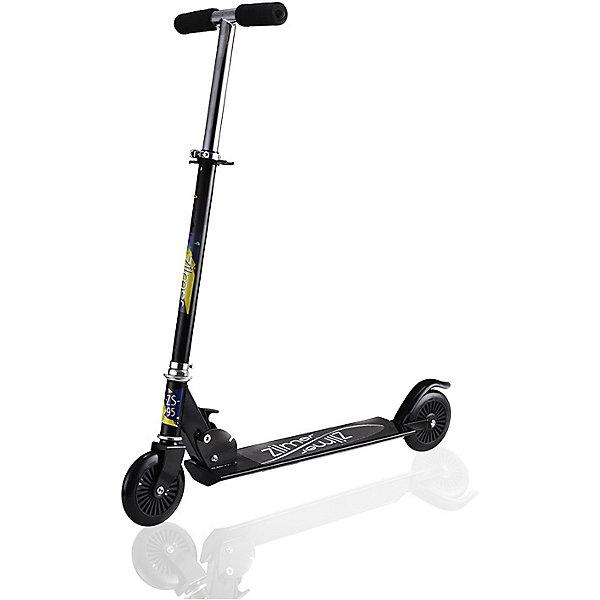 Самокат  Zilmer ZS-95, 2 колеса, 74x9,8х95 смСамокаты<br>Характеристики:<br><br>• возраст: от 6 лет;<br>• материал: пластик, металл;<br>• цвет: черный;<br>• регулируемая высота руля;<br>• диаметр колес: 12,5 см;<br>• максимальная нагрузка: 60 кг.;<br>• вес: 2,87 кг.;<br>• размер упаковки: 65х11х19 см;<br>• страна бренда: Китай.<br><br>Самокат Zilmer «ZS-76» имеет два колеса, хорошо развивает скорость, подходит для новичков и опытных в катании ребят. Заднее колесо оснащено крылом против брызг в дождливую погоду. Руль регулируется по высоте.<br><br>Удобные ручки самоката легко помещаются в руке, руки при этом не скользят. Самокат можно быстро сложить для транспортировки. Езда на самокате развивает физические способности, координацию движений и выносливость. Изделие выполнено из прочных качественных материалов.<br><br>Самокат Zilmer «ZS-95», 2 колеса, 74x9,8х95 см можно купить в нашем интернет-магазине.<br>Ширина мм: 65; Глубина мм: 11; Высота мм: 19; Вес г: 2870; Цвет: черный; Возраст от месяцев: 72; Возраст до месяцев: 120; Пол: Унисекс; Возраст: Детский; SKU: 7753549;