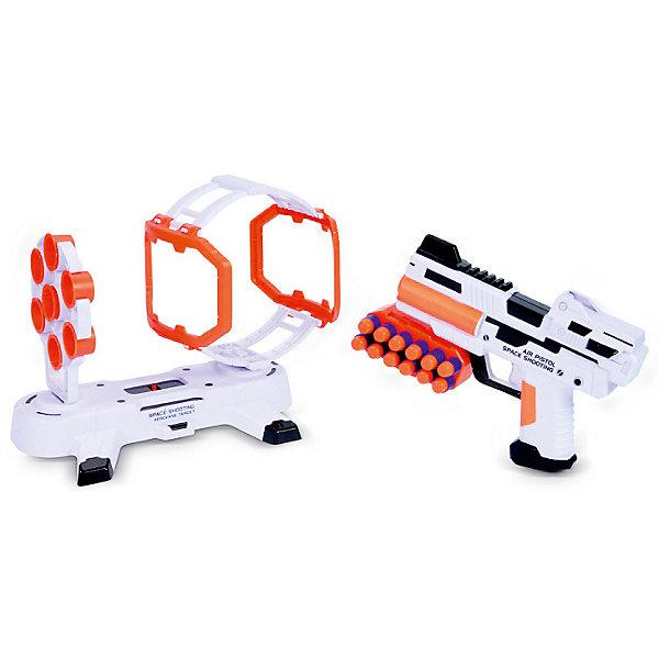 Игровой набор Mioshi  Космический тир: ПреградаНаборы оружия<br>Характеристики:<br><br>• возраст: от 4 лет;<br>• материал: пластмасса;<br>• в наборе: бластер, 12 EVA патронов, подвижная установка с мишенями, патронаш для пояса;<br>• тип батареек: АА 1,5 V;<br>• наличие батареек: в комплекте;<br>• вес: 700 гр.;<br>• размер упаковки: 40х32х7 см;<br>• страна бренда: Китай.<br><br>Игровой набор Mioshi «Космический тир: Преграда» представляет игру, в которой ребенку предстоит попасть зарядами из бластера по мишеням, но путь к ним преграждает движущееся препятствие. Для реалистичности игры предусмотрены звуковые эффекты.<br><br>Набор выполнен в космическом стиле. Все элементы сделаны из безопасного пластика. В комплекте демонстрационные батарейки.<br><br>Игровой набор Mioshi «Космический тир: Преграда» можно купить в нашем интернет-магазине.<br>Ширина мм: 40; Глубина мм: 32; Высота мм: 7; Вес г: 700; Цвет: разноцветный; Возраст от месяцев: 36; Возраст до месяцев: 72; Пол: Мужской; Возраст: Детский; SKU: 7753551;