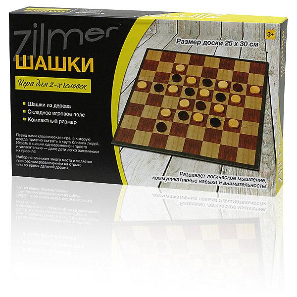 Настольная игра Zilmer  Шашки,25х15х3,5 смСпортивные настольные игры<br>Характеристики:<br><br>• возраст: от 3 лет;<br>• материал: дерево;<br>• в наборе: доска для игры, шашки, правила игры;<br>• вес упаковки: 270 гр.;<br>• размер доски: 25х30 см;<br>• размер упаковки: 25х15х4 см;<br>• страна бренда: Китай.<br><br>Набор «Шашки» Zilmer представляет классическую настольную игру для развития логического мышления и внимательности. Игровое поле картонное, а шашки изготовлены из дерева. Доску можно сложить пополам.<br><br>Настольную игру Zilmer «Шашки», 25х15х3,5 см можно купить в нашем интернет-магазине.<br>Ширина мм: 25; Глубина мм: 15; Высота мм: 4; Вес г: 270; Цвет: разноцветный; Возраст от месяцев: 36; Возраст до месяцев: 36; Пол: Унисекс; Возраст: Детский; SKU: 7753555;