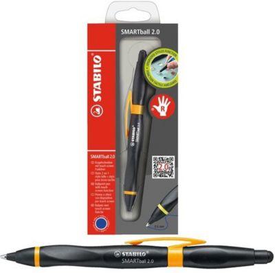 Ручка-стилус Stabilo smartball 2.0 д/правшей синяя, корпус черный/св.зеленый, артикул:7754154 - Канцтовары