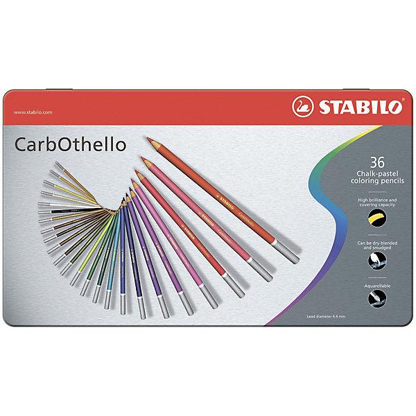 Набор акварельных карандашей Stabilo aquacolor 36цв, металлПисьменные принадлежности<br>Характеристики:<br><br>• возраст: от 3 лет<br>• в наборе: 36 карандашей<br>• количество цветов: 36<br>• диаметр грифеля: 2,8 мм.<br>• диаметр карандаша: 0,7 см.<br>• длина карандаша: 17,5 см.<br>• материал корпуса: древесина<br>• упаковка: металлическая коробка<br>• размер упаковки: 32,2х18,7х,1,1 см.<br>• вес: 452 гр.<br><br>Набор акварельных карандашей Stabilo aquacolor предназначен для раскрашивания и рисования.<br><br>Для создания рисунка с эффектом акварельных красок, перед началом работы требуется слегка смочить бумагу водой или растушевать уже готовый рисунок мокрой кистью.<br><br>Карандаши могут быть использованы в качестве классических цветных карандашей.<br><br>Высокая степень пигментации и мягкий прочный грифель гарантируют яркость цвета, легкость нанесения, отличную смешиваемость цветов. Цвета хорошо ложатся на бумагу и размываются водой.<br><br>Карандаши упакованы в удобную металлическую коробку.<br><br>Набор акварельных карандашей Stabilo aquacolor 36цв, металл можно купить в нашем интернет-магазине.<br>Ширина мм: 322; Глубина мм: 11; Высота мм: 187; Вес г: 452; Возраст от месяцев: 36; Возраст до месяцев: 2147483647; Пол: Унисекс; Возраст: Детский; SKU: 7754176;