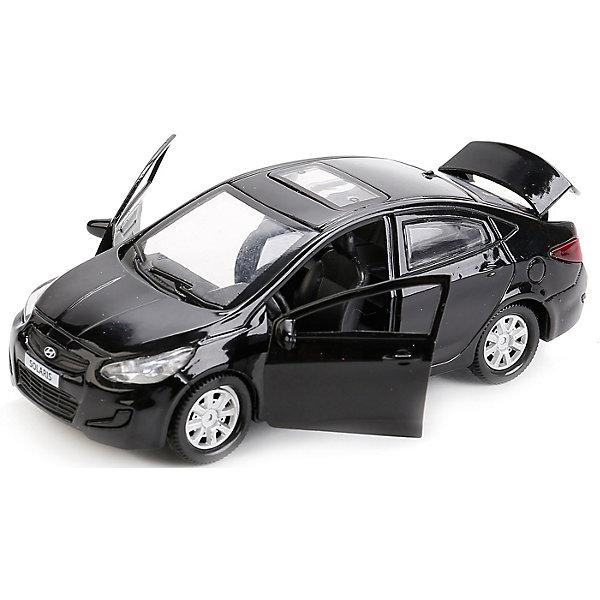 Машина  Hyundai Solaris 12см, металл. инерц.открыв. двери и багажник.Машинки<br>Характеристики товара:<br><br>• возраст: от 3 лет;<br>• размер упаковки: 8x7x13 см.;<br>• вес: 170 гр.;<br>• размер машинки: 12 см.;<br>• из чего сделана игрушка (состав): пластик, металл;<br>• упаковка: картонная коробка с блистером.<br><br>Машинка является миниатюрной копией модели «Hyundai Solaris», который является популярным легковым автомобилем.<br><br>У модели характерная радиаторная решетка, удлиненный капот и изгибы кузова.<br><br>Машинка оснащена вращающимися колесами и инерционным механизмом, поэтому может самостоятельно проезжать небольшое расстояние, если ее подтолкнуть.<br><br>Двери и багажник игрушки открываются, позволяя рассмотреть реалистичный салон и разнообразить сюжет игры.<br><br>Машину «Hyundai Solaris» можно купить в нашем интернет-магазине.<br>Ширина мм: 80; Глубина мм: 70; Высота мм: 130; Вес г: 170; Цвет: черный; Возраст от месяцев: 36; Возраст до месяцев: 96; Пол: Мужской; Возраст: Детский; SKU: 7754714;