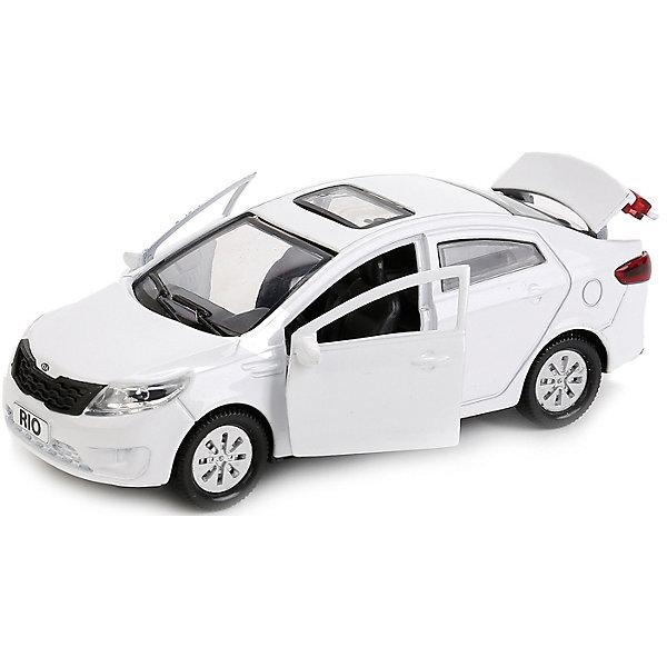 Машина Kia Rio 12см, металл. инерц., открыв. двери и багажник.Машинки<br>Характеристики товара:<br><br>• возраст: от 3 лет;<br>• размер упаковки: 18x7x13 см.;<br>• вес: 170 гр.;<br>• размер машинки: 12 см.;<br>• из чего сделана игрушка (состав): пластик, металл;<br>• упаковка: картонная коробка с блистером.<br><br>Машинка является миниатюрной копией автомобиля Киа Рио, который представлен в спортивной модификации.<br><br>Машинка оснащена вращающимися колесами и инерционным механизмом, поэтому может самостоятельно проезжать небольшое расстояние, если ее подтолкнуть.<br><br>Двери и багажник игрушки открываются, позволяя рассмотреть реалистичный салон и разнообразить сюжет игры.<br><br>Машинка выполнена из безопасного для детей, сертифицированного металла, который устойчив к ударам и падениям.<br><br>Машину «Kia Rio» можно купить в нашем интернет-магазине.<br>Ширина мм: 180; Глубина мм: 70; Высота мм: 130; Вес г: 170; Цвет: белый; Возраст от месяцев: 36; Возраст до месяцев: 96; Пол: Мужской; Возраст: Детский; SKU: 7754740;