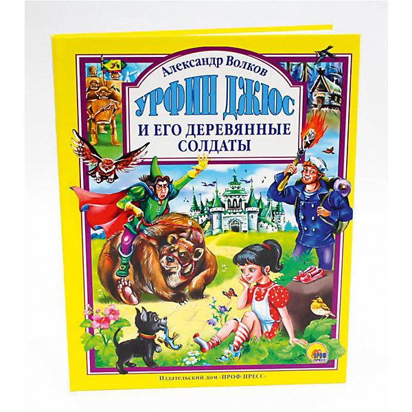 Л.С. УРФИН ДЖЮС И ЕГО ДЕРЕВЯННЫЕ СОЛДАТЫ (новая)Сказки<br>Характеристики:<br><br>• тип игрушки: книга;<br>• возраст: от 3 лет;<br>• ISBN: 978-5-378-05581-4;<br>• количество страниц: 240 (офсет);<br>• материал: бумага;<br>• вес: 463 гр;<br>• размер: 25х20х1,5 см; <br>• издательство: Проф-Пресс.<br>   <br>Книга «Л.С. Урфин Джюс и его деревянные солдаты» станет чудесным открытием для любителей приключений девочки Элли и её верных друзей: Тотошки, Страшилы, Железного Дровосека, Смелого Льва и многих других! После избавления Волшебной страны от злых волшебниц Гингемы и Бастинды жители вздохнули с облегчением, но не тут-то было. Появилась новая напасть: угрюмый Урфин Джюс и его необычные помощники... Ребята всех возрастов будут переживать вместе с героями все приключения, эта книга, уже ставшая классикой, никого не оставит равнодушным, в том числе благодаря добрым и красочным иллюстрациям Юлии Габазовой и удобному формату.<br><br> Книгу «Л.С. Урфин Джюс и его деревянные солдаты» можно купить в нашем интернет-магазине.<br>Ширина мм: 200; Глубина мм: 15; Высота мм: 265; Вес г: 441; Возраст от месяцев: 72; Возраст до месяцев: 108; Пол: Унисекс; Возраст: Детский; SKU: 7757313;