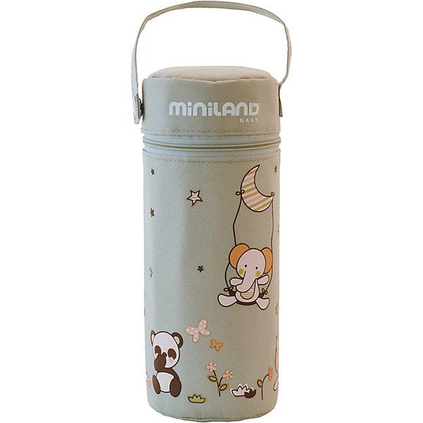 Термо-сумка для бутылочек Miniland Soft, 330 млТермосумки и термосы<br>Характеристики:<br><br>• термо-сумка для бутылочек;<br>• термостойкие стенки;<br>• ремешок для крепления к ручке коляски;<br>• круговая молния на клапане сумки;<br>• размер сумки: 25х8 см;<br>• объем: 330 мл;<br>• водонепроницаемый высококачественный материал;<br>• цвет: бежевый.<br><br>Термо-сумка для бутылочек используется во время прогулок с малышом, путешествий и поездок. Водонепроницаемые термостойкие стенки позволяют сохранять температуру жидкости долгое время. Ремешок на кнопке отстегивается, сумку можно прикрепить к коляске или сумке. Сумка застегивается на молнию, которая вшита по кругу основания верхнего клапана. <br><br>Термо-сумку для бутылочек Miniland «Soft», 330 мл можно купить в нашем интернет-магазине.<br>Ширина мм: 89; Глубина мм: 89; Высота мм: 210; Вес г: 120; Цвет: бежевый; Возраст от месяцев: -2147483648; Возраст до месяцев: 2147483647; Пол: Унисекс; Возраст: Детский; SKU: 7760083;