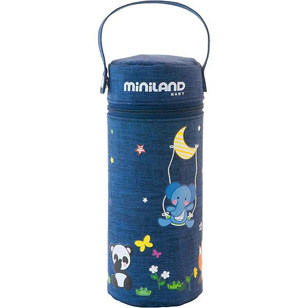 Термо-сумка для бутылочек Miniland Denim, 330 млТермосумки и термосы<br>Характеристики:<br><br>• термо-сумка для бутылочек;<br>• термостойкие стенки;<br>• ремешок для крепления к ручке коляски;<br>• круговая молния на клапане сумки;<br>• размер сумки: 25х8 см;<br>• объем: 330 мл;<br>• водонепроницаемый высококачественный материал;<br>• цвет: синий.<br><br>Термо-сумка для бутылочек используется во время прогулок с малышом, путешествий и поездок. Водонепроницаемые термостойкие стенки позволяют сохранять температуру жидкости долгое время. Ремешок на кнопке отстегивается, сумку можно прикрепить к коляске или сумке. Сумка застегивается на молнию, которая вшита по кругу основания верхнего клапана. <br><br>Термо-сумку для бутылочек Miniland «Denim», 330 мл можно купить в нашем интернет-магазине.<br>Ширина мм: 89; Глубина мм: 89; Высота мм: 210; Вес г: 120; Цвет: синий; Возраст от месяцев: -2147483648; Возраст до месяцев: 2147483647; Пол: Унисекс; Возраст: Детский; SKU: 7760087;