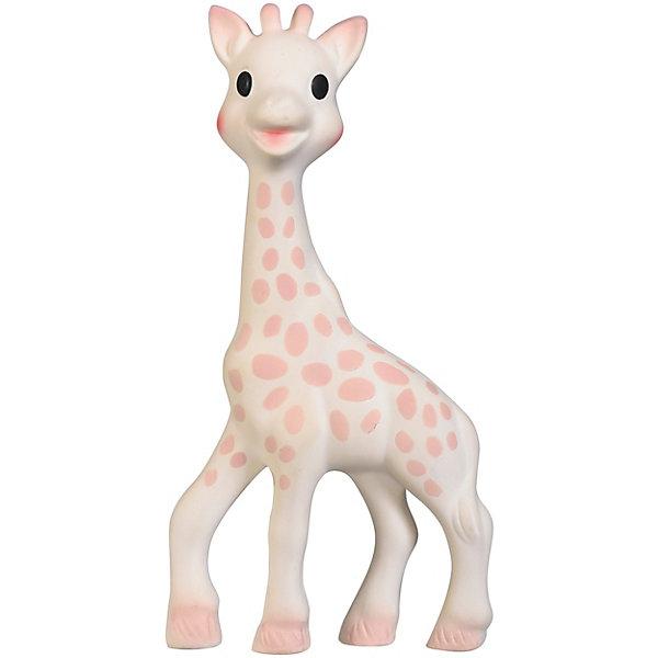 Жирафик Софи Vulli для девочекРезиновые игрушки<br>Характеристики:<br><br>• жирафик Софи с бархатной поверхностью;<br>• отсутствует пищалка, чтобы не потревожить сон малыша;<br>• игрушку приятно сжимать в ручках;<br>• в комплекте флуоресцентные фигурки, которые светятся в темноте;<br>• фигурки можно развесить на потолке или на стене рядом с детской кроваткой;<br>• для крепления используется липкая лента из набора;<br>• материал: каучук;<br>• размер игрушки: 18 см;<br>• размер упаковки: 25х5х24 см;<br>• вес: 200 г.<br><br>Нежный зверек Жирафик с бархатной поверхностью успокаивает малыша, позволяет ему легче уснуть, фигурку можно погладить ручками и прижаться к жирафику щечкой. Мягкий на ощупь, жирафик будет согревать кроху и напоминать о маме. Светящиеся в темноте фигурки создают мягкое свечение, используются как неброские ночнички. Жирафик для девочек украшен розовыми пятнышками. <br><br>Жирафик Софи Vulli для девочек можно купить в нашем интернет-магазине.<br>Ширина мм: 240; Глубина мм: 50; Высота мм: 250; Вес г: 192; Возраст от месяцев: -2147483648; Возраст до месяцев: 2147483647; Пол: Унисекс; Возраст: Детский; SKU: 7763389;