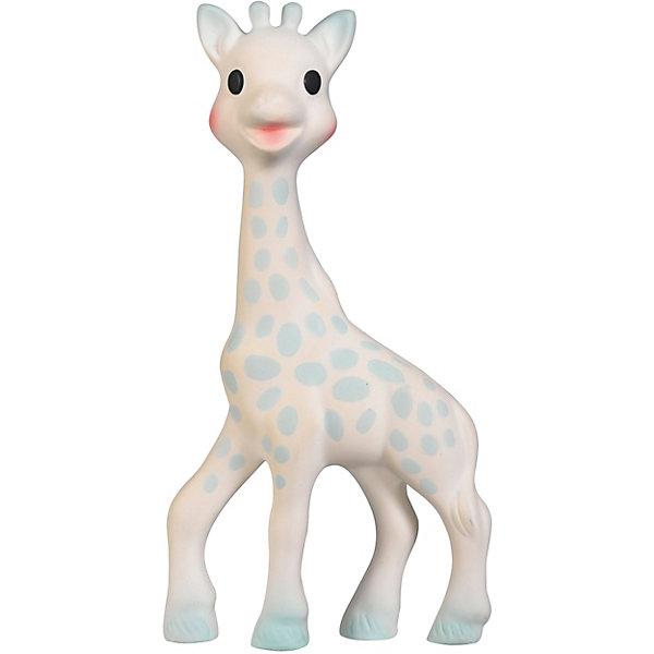 Жирафик Софи Vulli для  мальчиковРезиновые игрушки<br>Характеристики:<br><br>• жирафик Софи с бархатной поверхностью;<br>• отсутствует пищалка, чтобы не потревожить сон малыша;<br>• игрушку приятно сжимать в ручках;<br>• в комплекте флуоресцентные фигурки, которые светятся в темноте;<br>• фигурки можно развесить на потолке или на стене рядом с детской кроваткой;<br>• для крепления используется липкая лента из набора;<br>• материал: каучук;<br>• размер игрушки: 18 см;<br>• размер упаковки: 25х5х24 см;<br>• вес: 200 г.<br><br>Нежный зверек Жирафик с бархатной поверхностью успокаивает малыша, позволяет ему легче уснуть, фигурку можно погладить ручками и прижаться к жирафику щечкой. Мягкий на ощупь, жирафик будет согревать кроху и напоминать о маме. Светящиеся в темноте фигурки создают мягкое свечение, используются как неброские ночнички. Жирафик для мальчиков украшен голубыми пятнышками. <br><br>Жирафик Софи Vulli для мальчиков можно купить в нашем интернет-магазине.<br>Ширина мм: 240; Глубина мм: 50; Высота мм: 250; Вес г: 192; Возраст от месяцев: -2147483648; Возраст до месяцев: 2147483647; Пол: Унисекс; Возраст: Детский; SKU: 7763393;