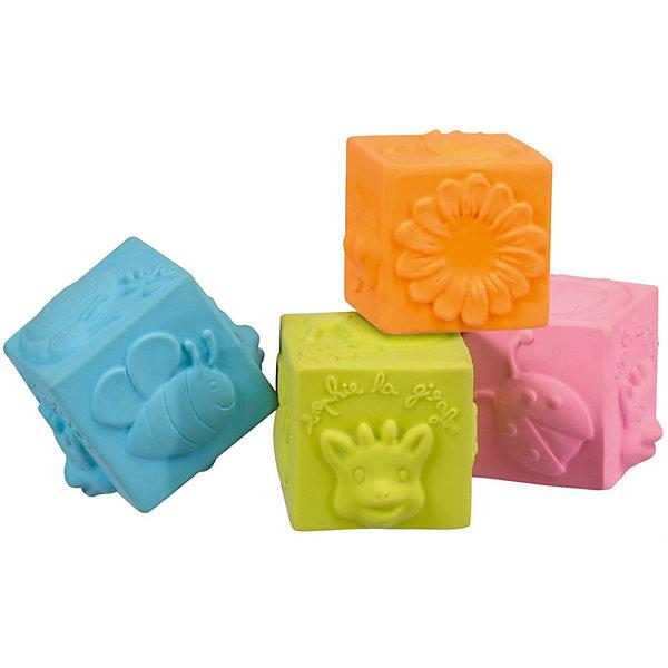 Развивающая игрушка Vulli КубикиРазвивающие игрушки<br>Характеристики:<br><br>• развивающие кубики с выпуклыми элементами;<br>• кубики разных цветов;<br>• развитие тактильного восприятия;<br>• кубики можно бросать, они мягкие, не крошатся и не бьются;<br>• материал: 100% натуральный каучук;<br>• размер 1 кубика: 5х5х5 см;<br>• размер упаковки: 21,5х10х5,5 см.<br><br>Мягкие каучуковые кубики Vulli окрашены в пастельные цвета, имеют выпуклые фигурки в виде жирафика, цветочка, божьей коровки и пчелки. Кубики удобно держать в маленьких ручках, кубики можно бросать как мячики, можно рассматривать или изучать «на ощупь». В процессе игры развивается тактильное восприятие, мелкая моторика пальчиков, образное мышление. <br><br>Развивающая игрушка Vulli «Кубики» можно купить в нашем интернет-магазине.<br>Ширина мм: 215; Глубина мм: 55; Высота мм: 100; Вес г: 120; Возраст от месяцев: 36; Возраст до месяцев: 2147483647; Пол: Унисекс; Возраст: Детский; SKU: 7763395;