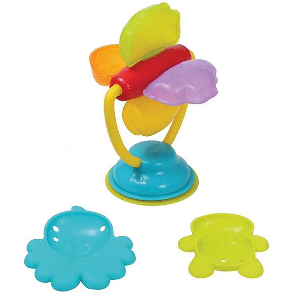 Игрушка для ванны Playgro МельницаИгрушки для ванной<br>Характеристики:<br><br>• игрушка для ванны;<br>• крепится с помощью присоски;<br>• механический тип активации;<br>• чтобы вращались лопасти мельницы, необходимо наполнить их водой;<br>• в комплекте 2 формочки: осьминог и черепашка;<br>• материал: пластик;<br>• размер упаковки: 30х8х18 см;<br>• вес: 205 г. <br><br>Развивающая игрушка для ванной предназначена для детей старше 6 месяцев. Пластиковая мельница с цветными лопастями крепится на кафеле в ванной комнате с помощью присоски. Лопасти мельницы вращаются, получаются веселые брызги. Малыш наполняет лопасти мельницы водой, чтобы привести их в движение. В комплекте 2 формочки в образе жителей подводного мира, которыми можно зачерпывать воду. В процессе игры развивается визуальное восприятие, координация движений, тактильные ощущения. <br><br>Игрушку для ванны Playgro «Мельница» можно купить в нашем интернет-магазине.<br>Ширина мм: 80; Глубина мм: 180; Высота мм: 300; Вес г: 206; Возраст от месяцев: 72; Возраст до месяцев: 2147483647; Пол: Унисекс; Возраст: Детский; SKU: 7763397;