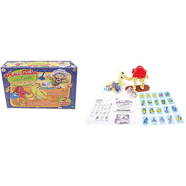 Академия Игр. Игра настольная Али-Баба и строптивый верблюд, в коробке, 37x9x27 смНастольные игры для всей семьи<br>Характеристики товара:<br><br>• возраст: от 4 лет;<br>• упаковка: картонная коробка;<br>• размер: 37x9x2 см;<br>• 2-4 игрока;<br>• материал: пластик, картон;<br>• вес: 583 г;<br>• бренд: ABtoys.<br><br>Настольная игра в слова «Али-Баба и строптивый верблюд» – это увлекательная игра, развивающая ловкость, моторику и координацию движений игроков. Целью игры является разместить на седле верблюда как можно больше поклади. <br><br>В начале игрок переворачивает одну из 20-ти карточек, чтобы узнать, что именно он должен поместить на верблюда. Если строптивый верблюд скидывает Али-Бабу, карточку необходимо положить вниз стопки, а ход переходит к другому игроку. Задача каждого игрока – набрать наибольшее количество очков, уложив все предметы на верблюда. <br><br>В комплект набора входит верблюд, фигурка Али Бабы, седло 15 предметов (горшок, корзина меч, таз, пшеница, гитара, фляга с водой, урна, ковер, сумка, стол, кувшин, сундук, лампа, навес), карточки (15 предметов, 3 бонуса, 2 пропуск хода) и подробная инструкция.<br><br>Настольную игру «Али-Баба и строптивый верблюд» можно купить в нашем интернет-магазине.<br>Ширина мм: 370; Глубина мм: 90; Высота мм: 270; Вес г: 583; Возраст от месяцев: 48; Возраст до месяцев: 120; Пол: Унисекс; Возраст: Детский; SKU: 7766947;