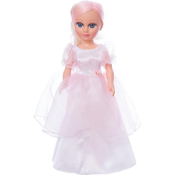 Кукла Анастасия Розовая нежность, со звуком 42 см.Куклы<br>Характеристики товара:<br><br>• возраст: от 3 лет;<br>• размер: 21х29х51 см;<br>• высота куклы: 42 см;<br>• вес: 558 г;<br>• материал: пластик, текстиль;<br>• бренд: Весна.<br><br>Кукла Анастасия Розовая нежность со звуковым устройством от российского бренда «Весна» приглашает каждую девочку поиграть с собой. Особенность куклы состоит в том, что она может произносить несколько фраз. Это разнообразит сюжетно-ролевые игры ребенка и позволит кукле стать лучшей подружкой малышки.<br><br>У Анастасии очень милое личико с красивыми голубыми глазами, пухлыми губами и длинными ресницами. Светлые с розовыми прядями волосы убраны назад, выполнены из качественного нейлона и хорошо прошиты.<br><br>Анастасия одета в пышное белое платье с розовой пелеринкой, рукавами-фонариками и бантиком на талии. Образ куклы олицетворяет нежность и напоминает обаятельную принцессу.<br><br>Куклу Анастасию Розовую нежность со звуковым устройством можно купить в нашем интернет-магазине.<br>Ширина мм: 210; Глубина мм: 290; Высота мм: 510; Вес г: 558; Возраст от месяцев: 36; Возраст до месяцев: 120; Пол: Женский; Возраст: Детский; SKU: 7766955;