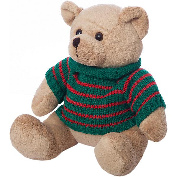 Мягкая игрушка Abtoys Медведь  в свитере, бежевый, 12 смМягкие игрушки животные<br>Характеристики товара:<br><br>• возраст: от 3 лет;<br>• размер: 12х16х12 см;<br>• вес: 200 г;<br>• материал: пластик, текстиль, искусственный мех;<br>• бренд: ABtoys.<br><br>Маленькая плюшевый мишка от бренда ABtoys понравится каждому малышу. Такая игрушка сможет стать лучшим другом вашего ребенка.<br><br>У мишки бежевая мягкая шерсть и модный зеленый свитер в красную полоску с высоким воротником. Мишка смотрит темными глазами добрым доверчивым взглядом, приглашая поиграть с собой.<br><br>Игрушка выполнена из качественных материалов, абсолютно безопасных для детей.<br><br>Плюшевого мишку ABtoys можно купить в нашем интернет-магазине.<br>Ширина мм: 120; Глубина мм: 160; Высота мм: 120; Вес г: 150; Цвет: бежевый; Возраст от месяцев: 36; Возраст до месяцев: 120; Пол: Унисекс; Возраст: Детский; SKU: 7766971;