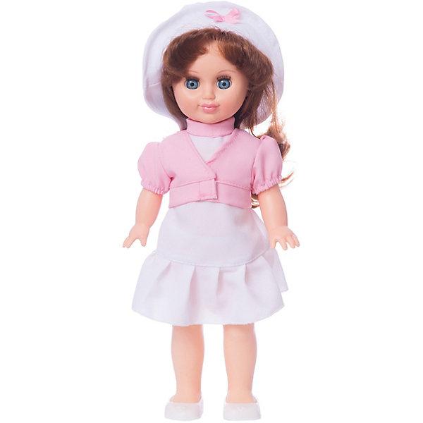 Кукла Весна Иринка 5 37 см.Куклы<br>Характеристики товара:<br><br>• возраст: от 3 лет;<br>• размер: 10х17х42 см;<br>• высота куклы: 37 см;<br>• вес: 360 г;<br>• материал: пластик, текстиль;<br>• бренд: Весна.<br><br><br>Кукла Иринка от российского бренда «Весна» приглашает каждую девочку поиграть с собой. Она разнообразит сюжетно-ролевые игры ребенка и сможет кукле стать лучшей подружкой малышки.<br><br>У Иринки очень милое личико с красивыми зелеными глазами, пухлыми губами и длинными ресницами. Темные волосы выполнены из качественного нейлона, хорошо прошиты, что дает возможность не только расчесывать куклу, но и завивать ей пряди.<br><br>На Иринке надето белое однотонное платьице и розовая кофточка-болеро. На ногах у куклы нежные светлые туфельки. <br><br>Куклу Иринку можно купить в нашем интернет-магазине.<br>Ширина мм: 100; Глубина мм: 170; Высота мм: 420; Вес г: 360; Возраст от месяцев: 36; Возраст до месяцев: 120; Пол: Женский; Возраст: Детский; SKU: 7766993;