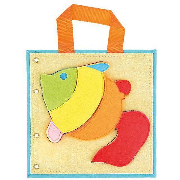 Развивающая аппликация РыбкаБумага<br>Характеристики:<br><br>• тип игрушки: аппликация;<br>• возраст: от 1 года;<br>• материал: фетр, хлопок;<br>• вес: 100 гр;<br>• размер: 20х20х0,3 см;<br>• бренд: Санта-Лючия.<br>   <br>Развивающая аппликация «Рыбка» - это мягкий пазл, который обязательно заинтересует малыша и подарит много минут веселого и увлекательного занятия. Аппликация представляет собой тканевую основу, на которую с помощью липучек крепятся детали из фетра. Есть ручка для удобной переноски пазла ребенком.<br><br>Собирая пазл, ребенок развивает логику, внимание, память, мелкую моторику, формирует цветовое восприятие и пространственное мышление. Пазл изготовлен из безопасных материалов и прошел все необходимые испытания качества. Всю серию наборов можно собрать в мягкую книжку-развивашку.<br><br>Развивающую аппликацию «Рыбка» можно купить в нашем интернет-магазине.<br>Ширина мм: 200; Глубина мм: 3; Высота мм: 200; Вес г: 100; Цвет: разноцветный; Возраст от месяцев: 12; Возраст до месяцев: 2147483647; Пол: Унисекс; Возраст: Детский; SKU: 7769333;