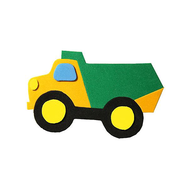 Аппликация на магнитике ГрузовикАппликации из бумаги<br>Характеристики:<br><br>• тип игрушки: аппликация;<br>• возраст: от 3 лет;<br>• материал: дерево, текстиль;<br>• комплектация: деревянная заготовка, самоклеющиеся детали из EVA, магнит;<br>• вес: 80 гр;<br>• размер: 13х20х0,3 см;<br>• бренд: Санта-Лючия.<br>   <br>Аппликация на магнитике «Грузовик» поможет ребенку сделать радужный магнит своими руками. В составе: основа-заготовка для магнитика и самоклеющиеся детали из Eva-материала. Набор поможет в развитии логики и моторики вашего ребенка, а готовый магнитик станет поводом для радости!  Цвет изделия может отличаться от примера на упаковке.<br><br>Аппликацию на магнитике «Грузовик» можно купить в нашем интернет-магазине.<br>Ширина мм: 130; Глубина мм: 3; Высота мм: 200; Вес г: 80; Цвет: разноцветный; Возраст от месяцев: 3; Возраст до месяцев: 2147483647; Пол: Унисекс; Возраст: Детский; SKU: 7769369;